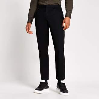 River Island Mens Black slim chino trousers