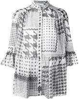 IRO houndstooth print shirt - women - Cotton - S