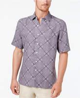 Tasso Elba Men's Mosaic Floral Silk & Linen Shirt, Created for Macy's