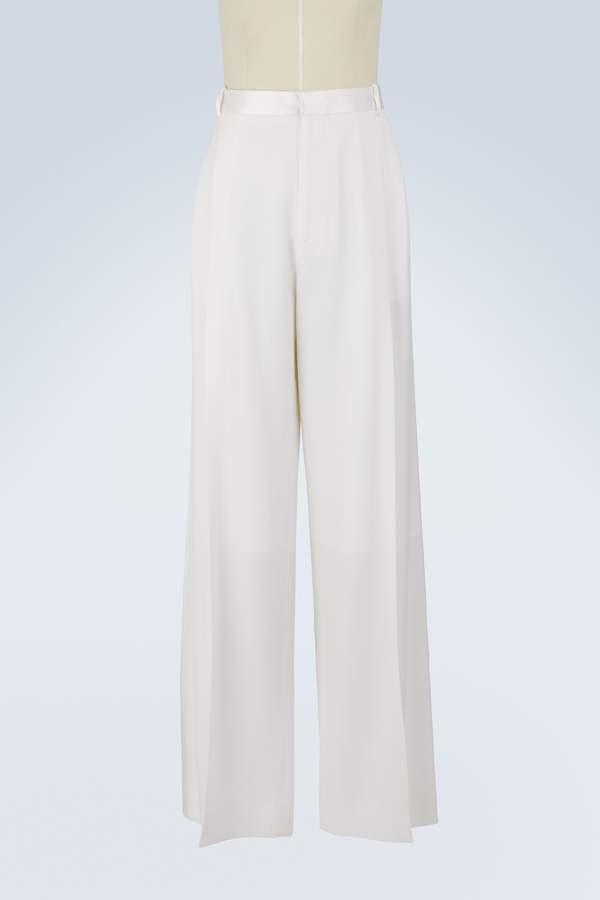Givenchy Satin striped wide-leg pants