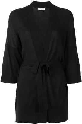 Le Kasha Fine-Knit Tie-Waist Cardigan
