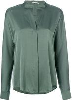 Vince open neck blouse - women - Silk/Spandex/Elastane - 4