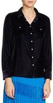 Maje Women's Velvet Shirt