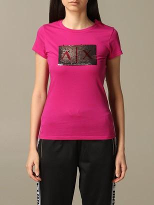 Armani Collezioni Armani Exchange T-shirt Armani Exchange T-shirt With Writable Sequin Logo