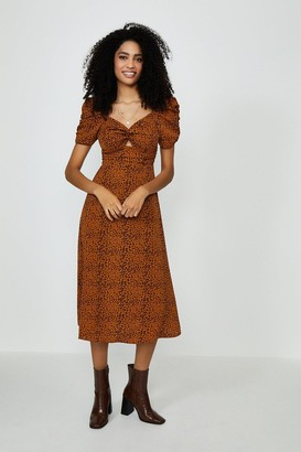 Coast Puff Sleeve Midi Dress