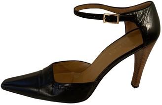 Gucci Black Leather Heels