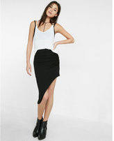 Express ruched side asymmetrical maxi skirt