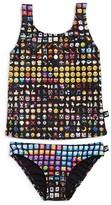 Terez Girls' Emoji Tankini 2-Piece Swimsuit - Little Kid, Big Kid