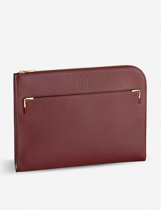 Cartier Must de leather portfolio bag