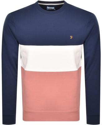 Farah Brigham Crew Neck Sweatshirt Pink
