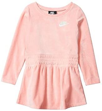 Nike Kids Sportswear Velour Dress (Toddler/Little Kids) (Bleached Coral) Girl's Active Sets