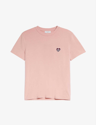 Sandro Camy logo-embossed cotton T-shirt