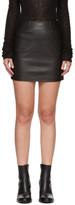 Mackage Black Leather Alva Miniskirt