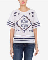 Catherine Malandrino Daisy Embroidered Eyelet Top