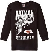 Junk Food Clothing Batman Vs Supermana (Toddler/Kid) - Jet Black - 2T