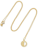Andrea Fohrman Half Moon Phase 18-karat Gold Diamond Necklace