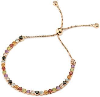 Tsai X Tsai Sanchong Rainbow Gemstones Bracelet 18 Ct Rose Gold Vermeil
