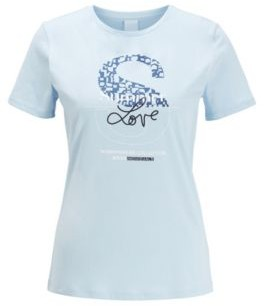 BOSS Cotton-jersey T-shirt with mixed-print collection graphic