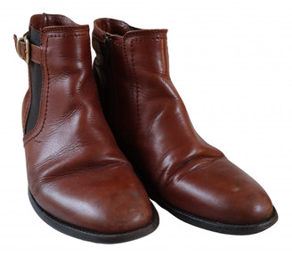 Minelli Brown Leather Ankle boots