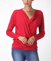 Bellino Red Drape Top