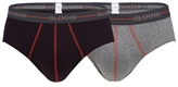 Sloggi Pack Of Two Brown And Grey Logo Embroidered Midi Briefs