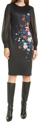 Ted Baker Ophena Flower Bodycon Dress