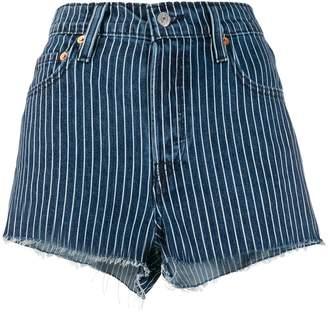 Levi's striped short shorts