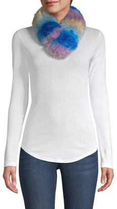 Adrienne Landau Rainbow Fox Fur Scarf
