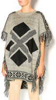 Honeybelle honey belle Fringe Trimmed Poncho
