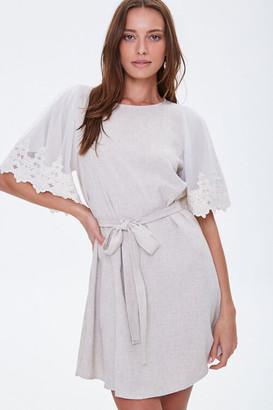 Forever 21 Crochet-Trim Shift Dress