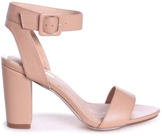 Linzi MILLIE - Mocha Nappa Open Toe Block Heel With Ankle Strap And Buckle Detail