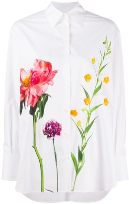 Valentino Floral-Print Cotton Shirt