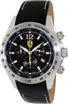 Ferrari Men's FE-07-ACC-CP-BK Leather Swiss Chronograph Watch with Dial