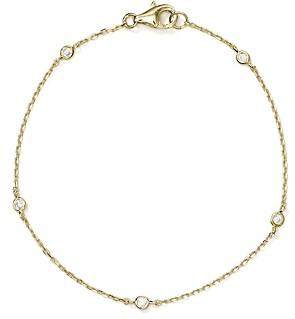 Aqua Sterling Silver Thin Chain Bracelet - 100% Exclusive