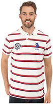 U.S. Polo Assn. Sporty Tri-Stripe Pique Polo Shirt