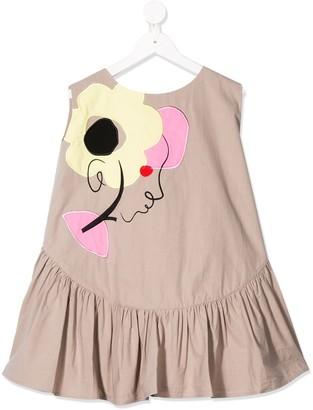 Raspberry Plum Flora embroidered dress