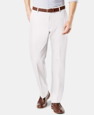Dockers Signature Lux Cotton Classic Fit Creased Stretch Khaki Pants
