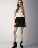 Leather Pleated Clueless Skirt