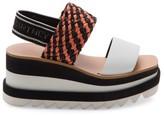 Stella McCartney Logo Platform Slingback Sandals