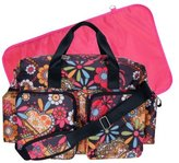 Trend Lab Deluxe Duffle Style Diaper Bag, Bohemian Floral by