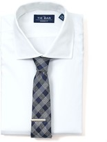 The Tie Bar White Pinpoint Solid Non-Iron Shirt