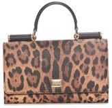 Dolce & Gabbana 'Crespo' Leopard Print Phone Wallet