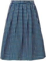 MICHAEL Michael Kors gathered checked midi skirt