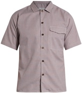 Ami Short-sleeved checked cotton shirt