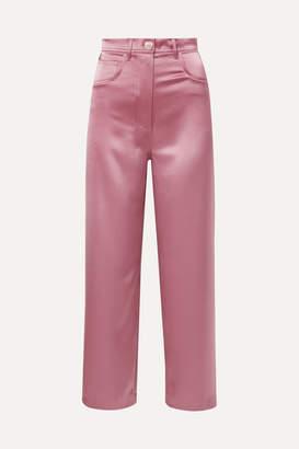 Nanushka Marfa Satin Straight-leg Pants - Pink