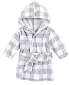 Hudson Baby Girls Plush Animal Face Bathrobe