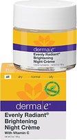 Derma E Evenly Radiant Brightening Night Crème with Vitamin C Nighttime Moisturizer, 2 oz