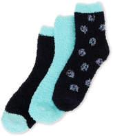 Ellen Tracy 3-Pack Dot Cozy Crew Socks
