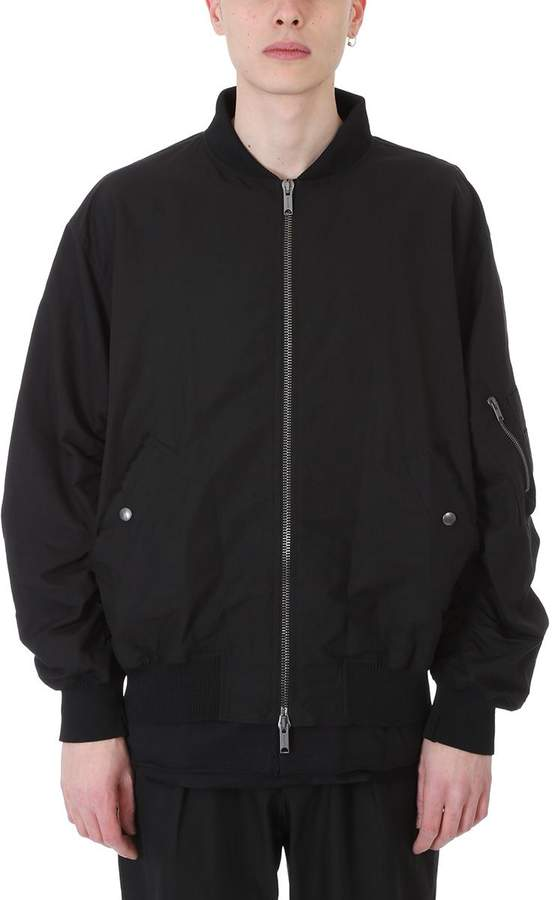 Damir Doma Jerry Black Cotton Bomber Jacket