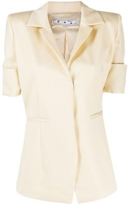 Off-White Button-Front Sailor Jacket